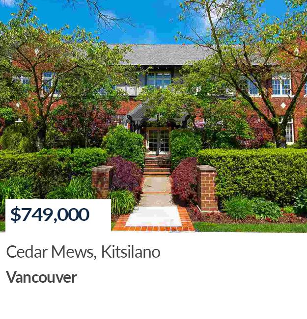 Property Sold in Vancouver - Cedar Mews, Kitsilano
