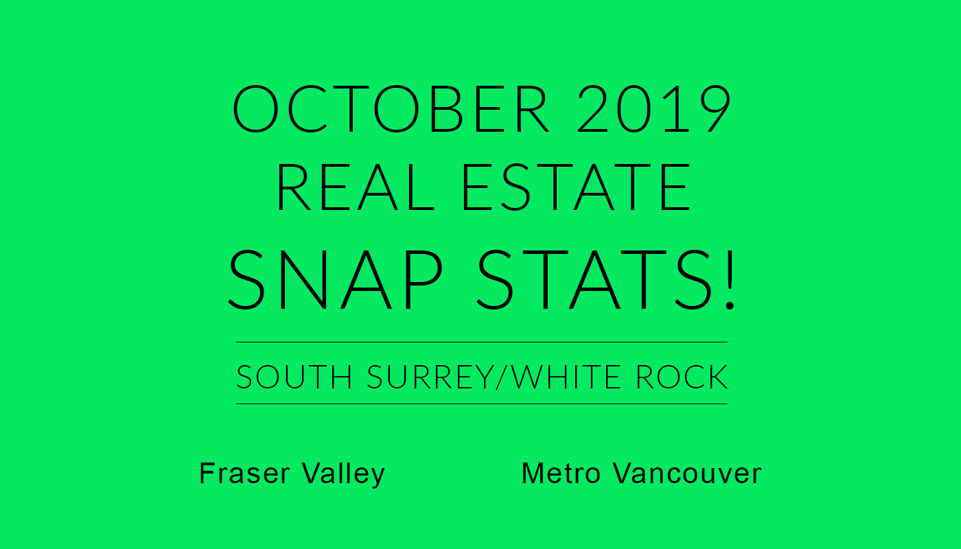 White Rock South Surrey Real Estate Snap Stats