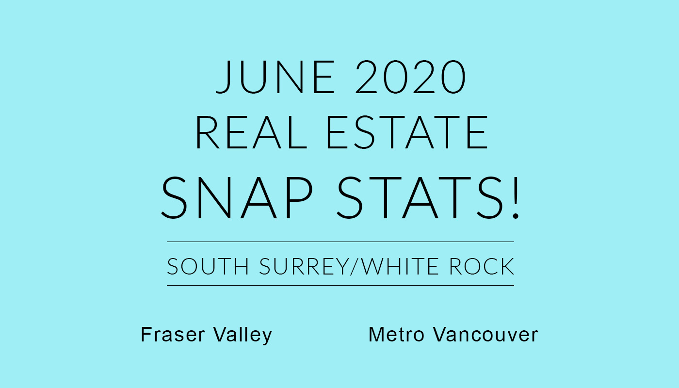 Real Estate snap stats for Fraser Valley and Metro Vancouver