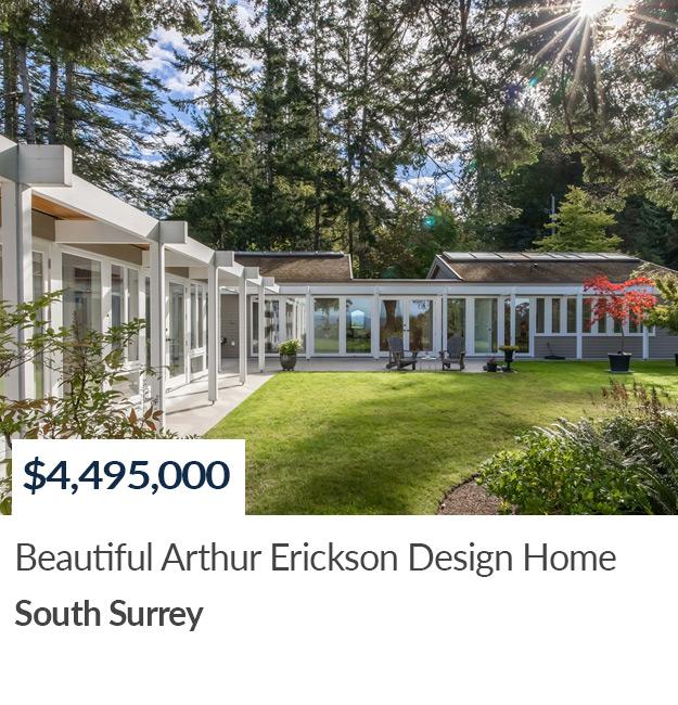 SOLD Arthur Erickson Designed Home South Surrey Sandra Miller