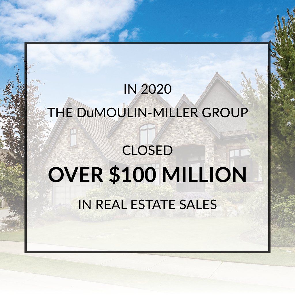 DuMoulin Miller Group closed over $100 million in real estate sales in 2020