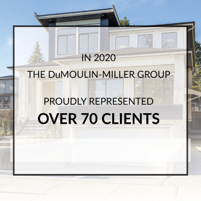 DuMoulin-Miller Group proudly represented over 70 clients in 2020
