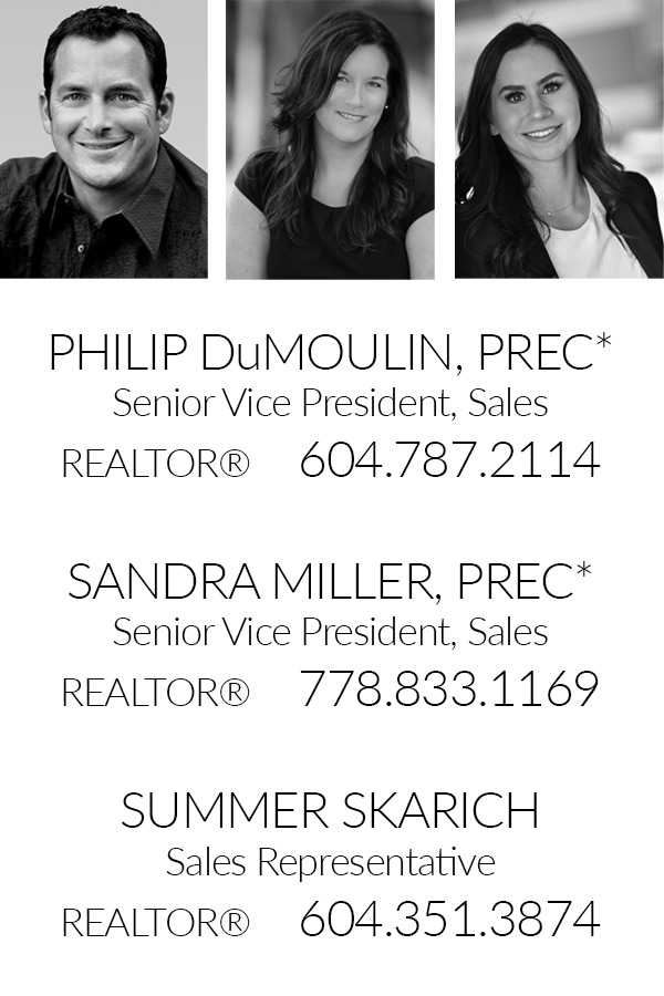 Philip DuMoulin Sandra Miller Summer Skarich Realtor South Surrey White Rock