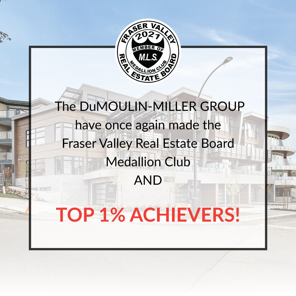 DuMoulin-Miller TOP 1% Achievers Fraser Valley Real Estate Board
