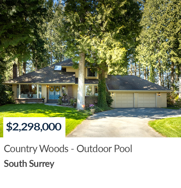 SOLD Country Woods South Surrey Realtor Sandra Miller