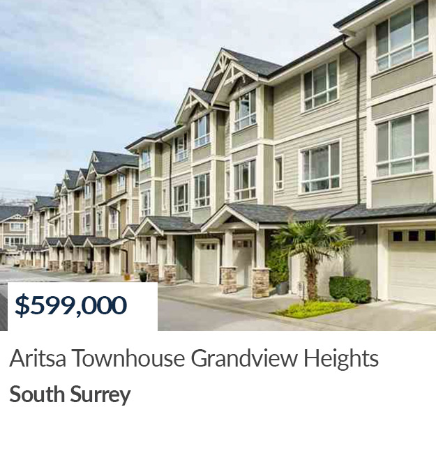 SOLD Grandview Heights Townhouse South Surrey Realtor Summer Skarich